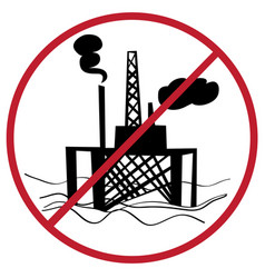 ban oil plant vector image