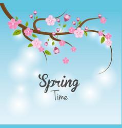 beautiful spring tree icon vector image
