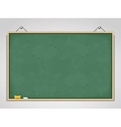Big Horizontal Green Blackboard vector image