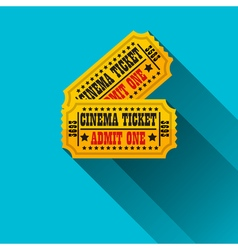 Cinema tickets flat design vector image