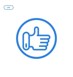 flat line hand icon vector image vector image