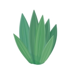 Flower Icon in Flat Style Design Green Nature vector image