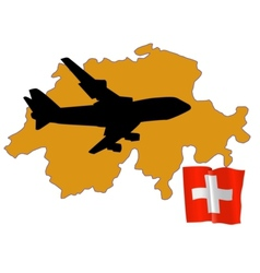 fly me to the Switzerland vector image vector image