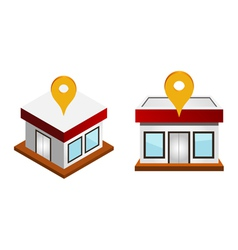 houses with map pin vector image