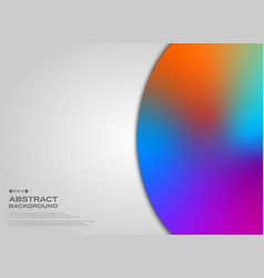 abstract of fluid colorful circle on clear vector image