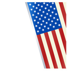 american flag decorative holiday banner frame vector image