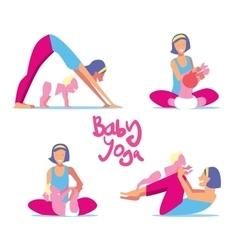 Baby yoga set vector