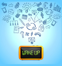Business morning composition vector