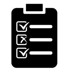 Check list flat icon vector