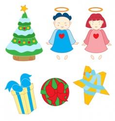 christmas variety vector image