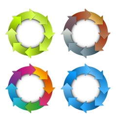 Circle arrows chart vector image