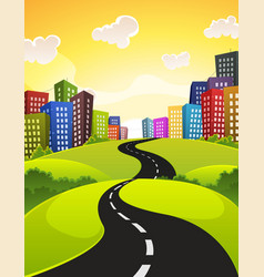 city road vector image