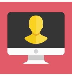 Computer Display User Icon vector image