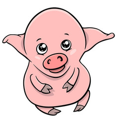 Cute piglet cartoon character vector