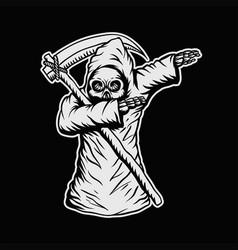 dabbing death skull vector image