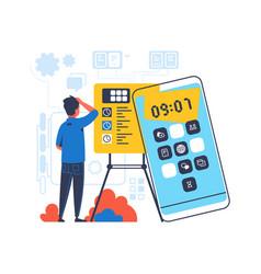 deadline concept freelance or office worker vector image