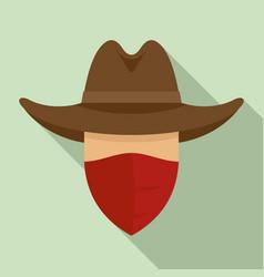 Desert cowboy icon flat style vector