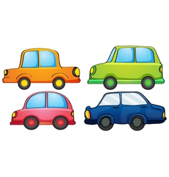Different designs and colors of a transportation vector image