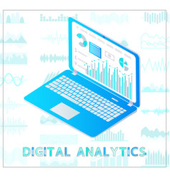 digital analytics poster chart vector image
