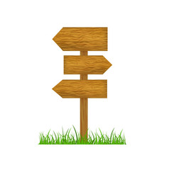 Direction wooden arrow vector