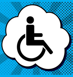 disabled sign black icon in vector image