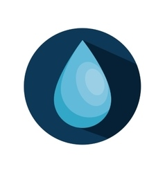 drop water isolated icon vector image