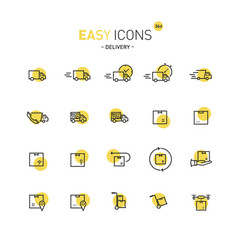Easy icons 36d delivery vector