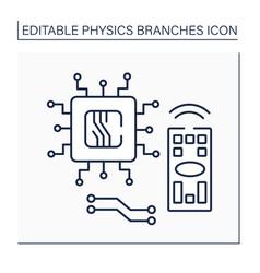 Electronics line icon vector