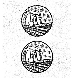 ethnic logo vector image