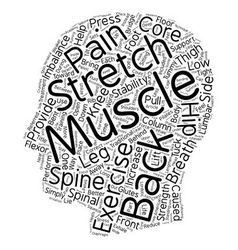 Exercise Your Back Pain Away text background vector image