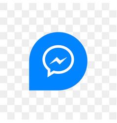 facebook messenger social media icon design vector image