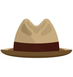 Fedora snap brim or borsalino hat flat vector