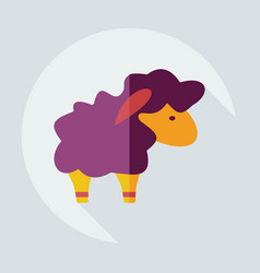 Flat modern design with shadow icons lamb vector