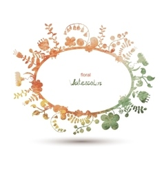 Floral vintage background Watercolor flowers vector image