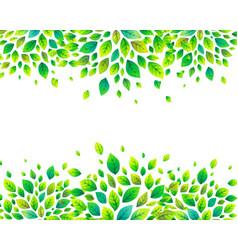 Green summer leaves banner background vector