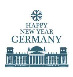 Greeting Card Germany vector image