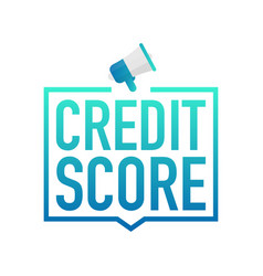 hand holding megaphone - credit score vector image