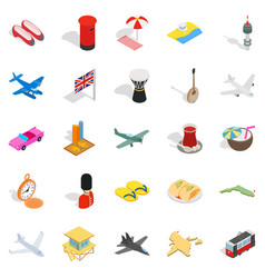 Holiday spot icons set isometric style vector