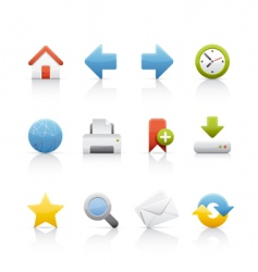 icon set web and internet vector image