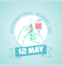 international nurses day syringe vector image