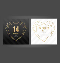 invitation template gold lines on a black vector image