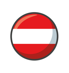 Isolated austria flag icon block design vector