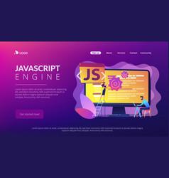 Javascript concept landing page vector