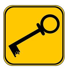 Key button vector image