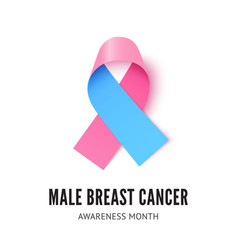 male breast cancer awareness ribbon vector image