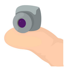 Mini camera icon cartoon style vector