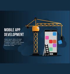 Mobile app development conceptual design vector