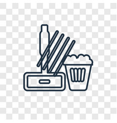 mop concept linear icon isolated on transparent vector image