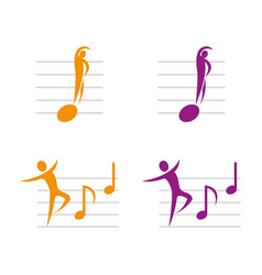 music2 vector image