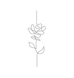 one line drawing continuous line flower hand vector image